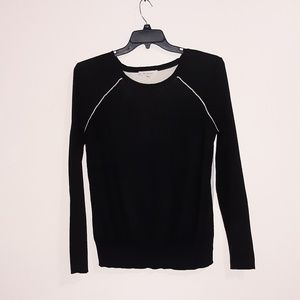 Two by Vince Camuto Black and Cream Sweater M